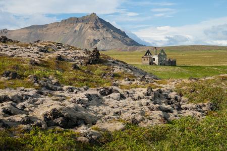 Abandoned house on snaefellsnes peninsula on Iceland