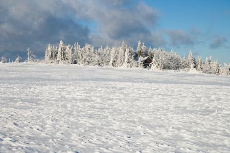 erzgebirge: beautiful sunny winter day