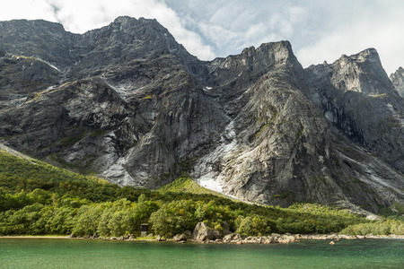 jostedal: Romsdal valley in Norway Stock Photo