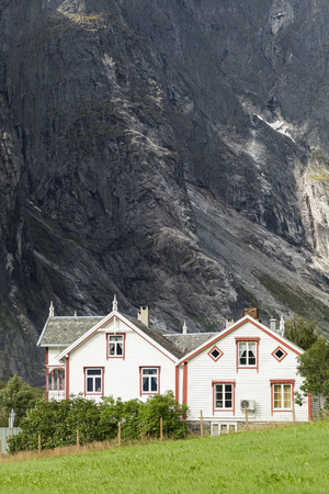 jostedal: Small houses in the Romsdal valley in Norway