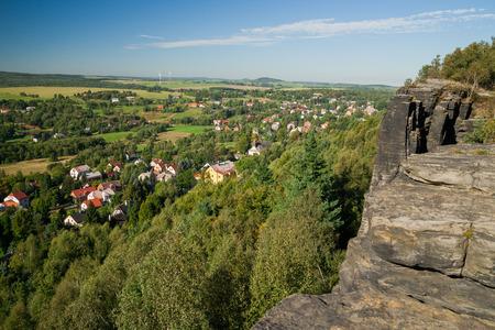 czech switzerland: sandstone landscape in bohemian switzerland