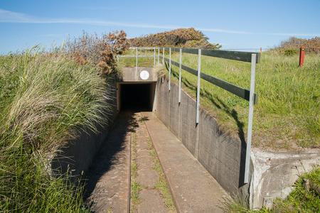 bunker in denmark from world war II Stock Photo