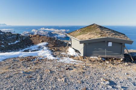 Mountain landscape near Bodo (Norway)  in winter