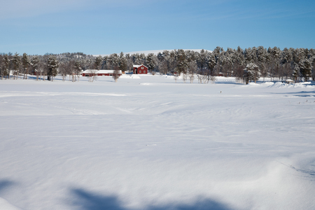 a beautiful cold winter day in sweden