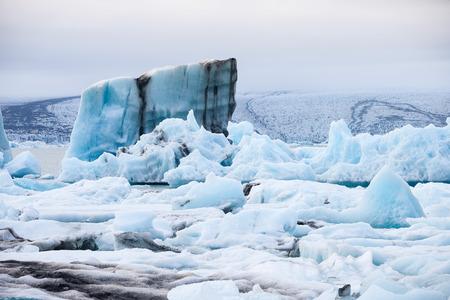 Ice floes on glacier lagoon Jokulsarlon in Iceland Stock Photo