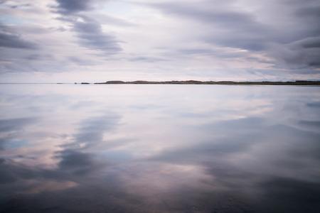 Calm sea landscape in Iceland