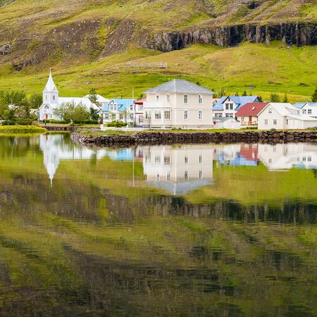 Village Seydisfjordur in Iceland