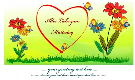 humane: greeting card with heart - Mother