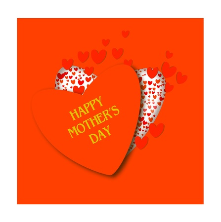 red heart opens - greeting card for Mother s Day Ilustrace