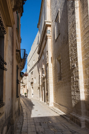 madina: picture of the small streets of Mdina Pitoresc Stock Photo