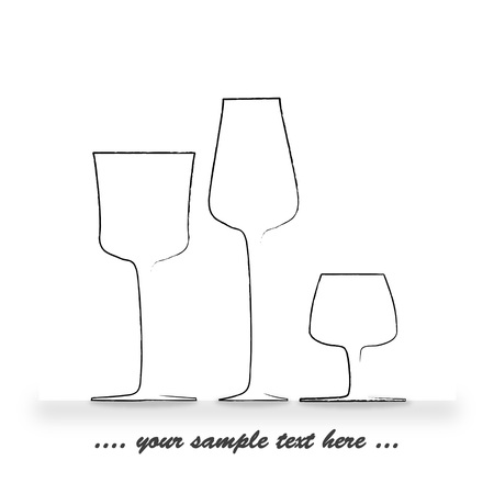 logo marketing: three glasses - could be used for logo, marketing or background