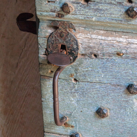 picture of a vintage looking doorhandle Stock Photo
