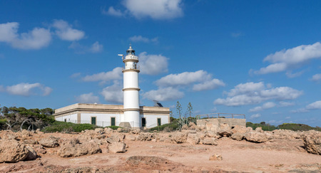 picture from the impressive lighthouse at capo salinas, mallorca Stock Photo
