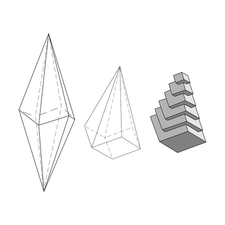 polyhedral: Illustration giving initial ideas about the internal structure of the crystal