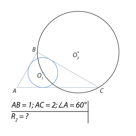 Task for calculating the radius of a circle Stock Vector - 82029316