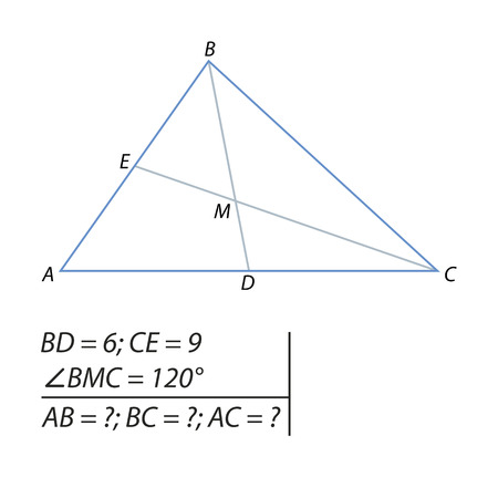 The problem of calculating the sides of a triangle