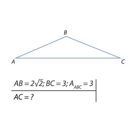 The problem of calculating the base of a blunt triangle