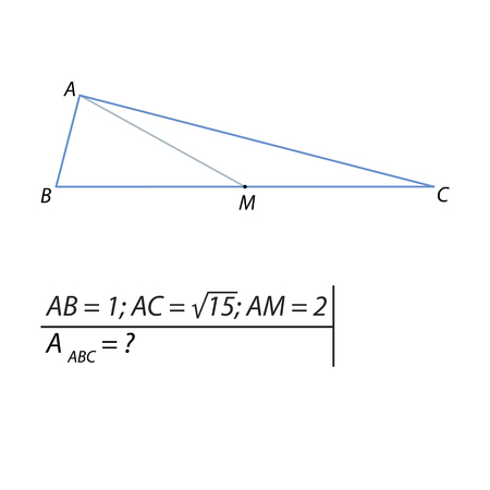 A Vector illustration of a geometrical problem for finding the area of a triangle-01 illustration.