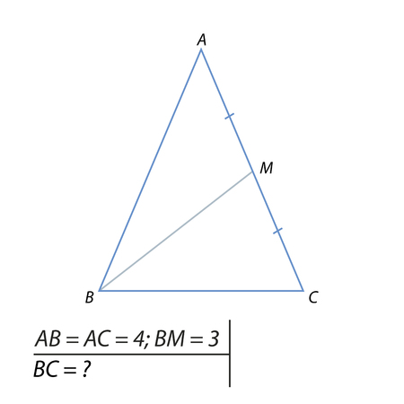 A Vector illustration of a problem finding the base of the triangle-01 illustration.