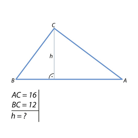The problem of calculating the height of a triangle
