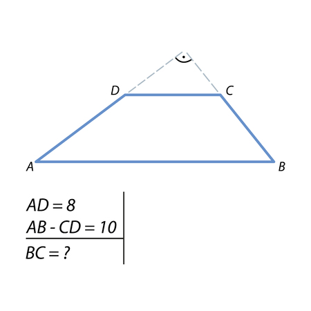 Task for calculating the side of the trapezoid