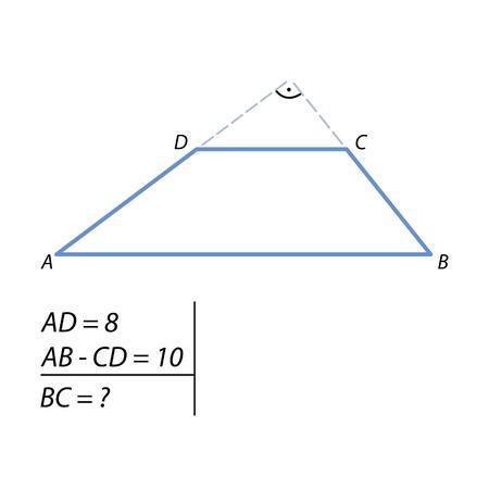 tâche pour calculer le côté de la trapèze
