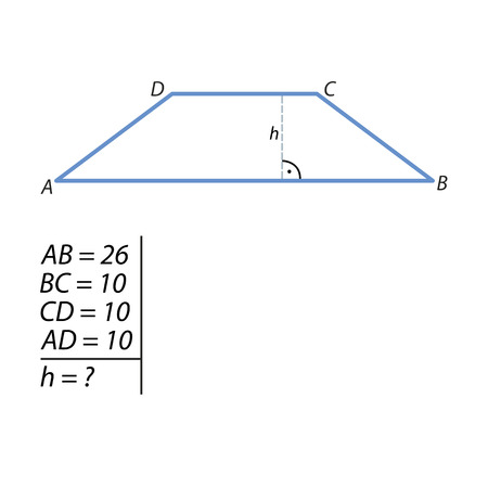 The task of finding the hypotenuse and the second leg illustration.