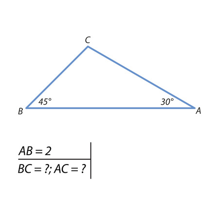 problem of finding the sides of the triangle