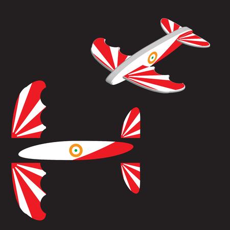 Toy plane. Airplane Vector illustration eps 10