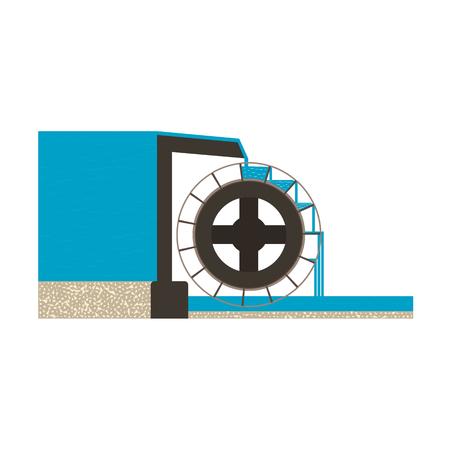 gravitational: water mill illustration EPS10 Illustration