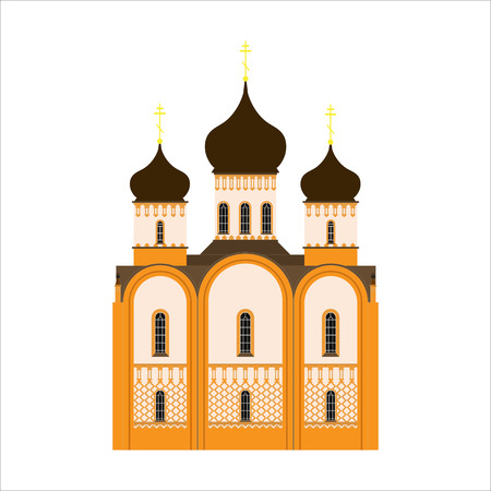 cupola: A simple icon of the Orthodox Church for Easter eggs or greeting cards
