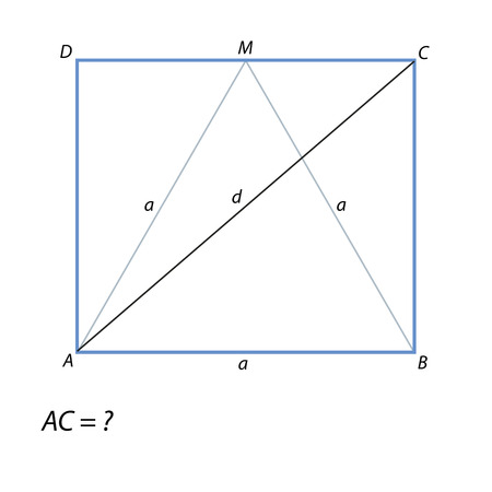 the task of finding a diagonal rectangle ABCD