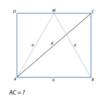 la tâche de trouver un rectangle diagonal ABCD