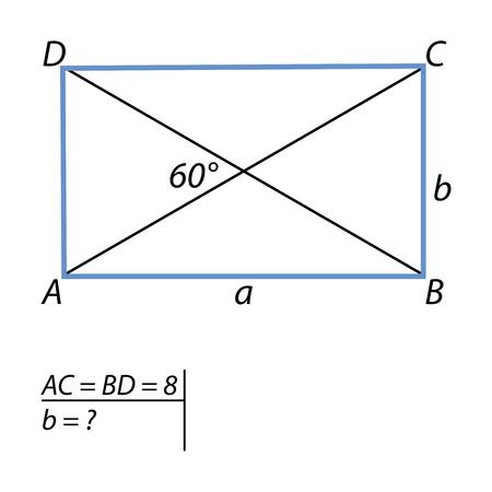 The task to find the short side parallelograms illustration.
