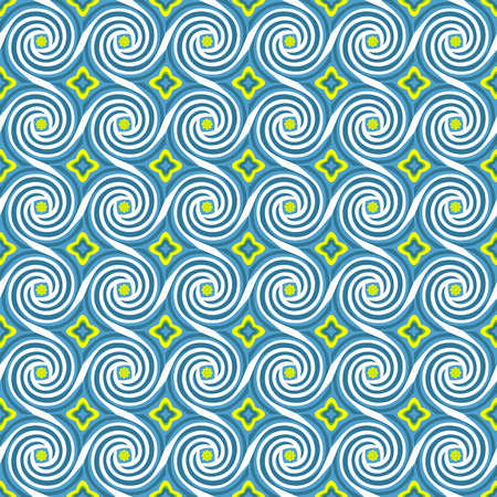 Vector pattern with waves. Stock Photo