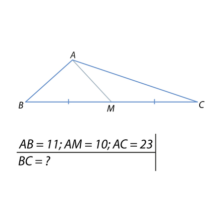 The problem of calculating the base of a triangle