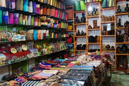 cotton shop Stock Photo