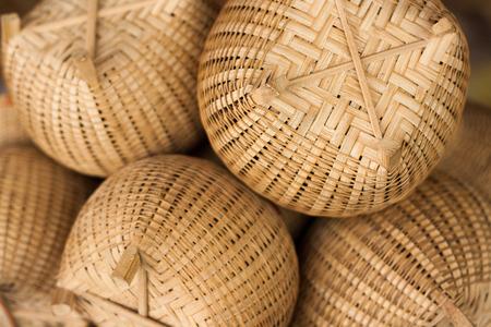 grass weave: Basketwork Stock Photo
