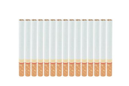 vertically: Smoking vertically on a white background.