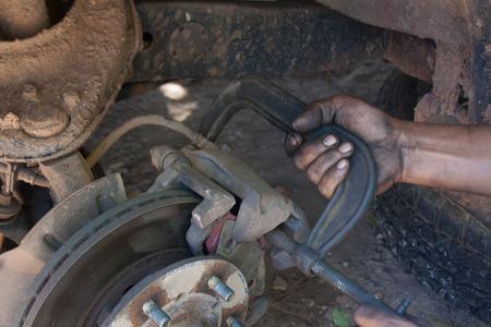 frenos: Se utiliza el freno de reparación de frenos de automóviles.