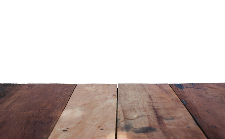 artefacts: Wood floor with space isolated white background. Stock Photo