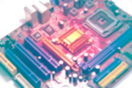 Verschwommener Computer Motherboard alte Version Vintage-Gradienten