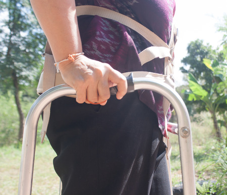 therapy equipment: The patient uses a walker support walk, Physical Therapy Equipment