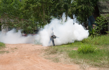 eradication: The fogging for get rid of mosquitoes in the house. And housing.