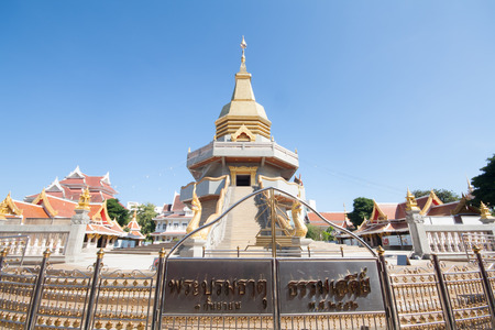 identidad cultural: royal temple in Udon Thani, Thailand, December 27, 2516 :  Buddhas relics worship. Editorial