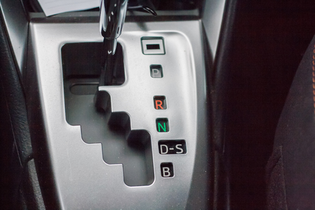 Close-up automatic transmission D-S Imagens
