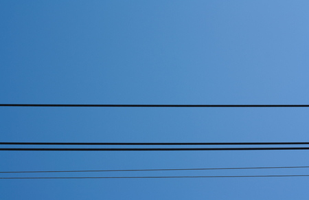 Electricity line on Clear Day.