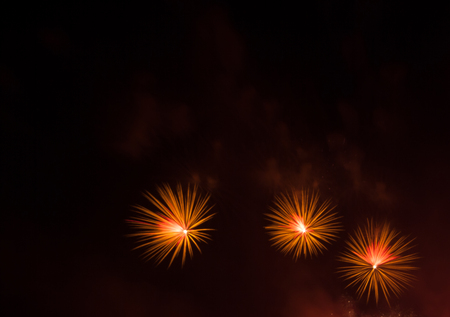 Abstract background Night scene of firework, copy space