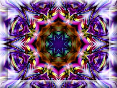 bias: Geometric abstract ornament. Kaleidoscope. Light flower.    A wonderful harmony of colors. 3D Frame.    Stock Photo
