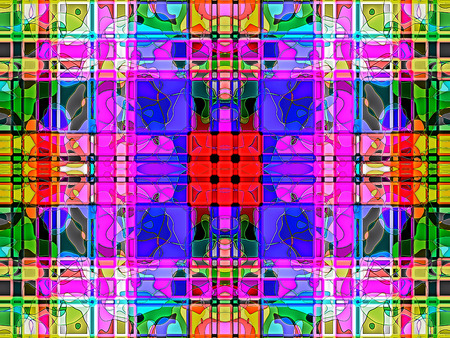 efficiently: Geometric   abstract  multicolored ornament background  .   Light multicolored.     A wonderful harmony of colors.